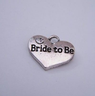Bride To Be Personalised Wine Glass Charm - Double Charm Style